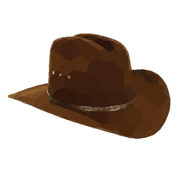 Cowboy hat final clip. Hats clipart wild west