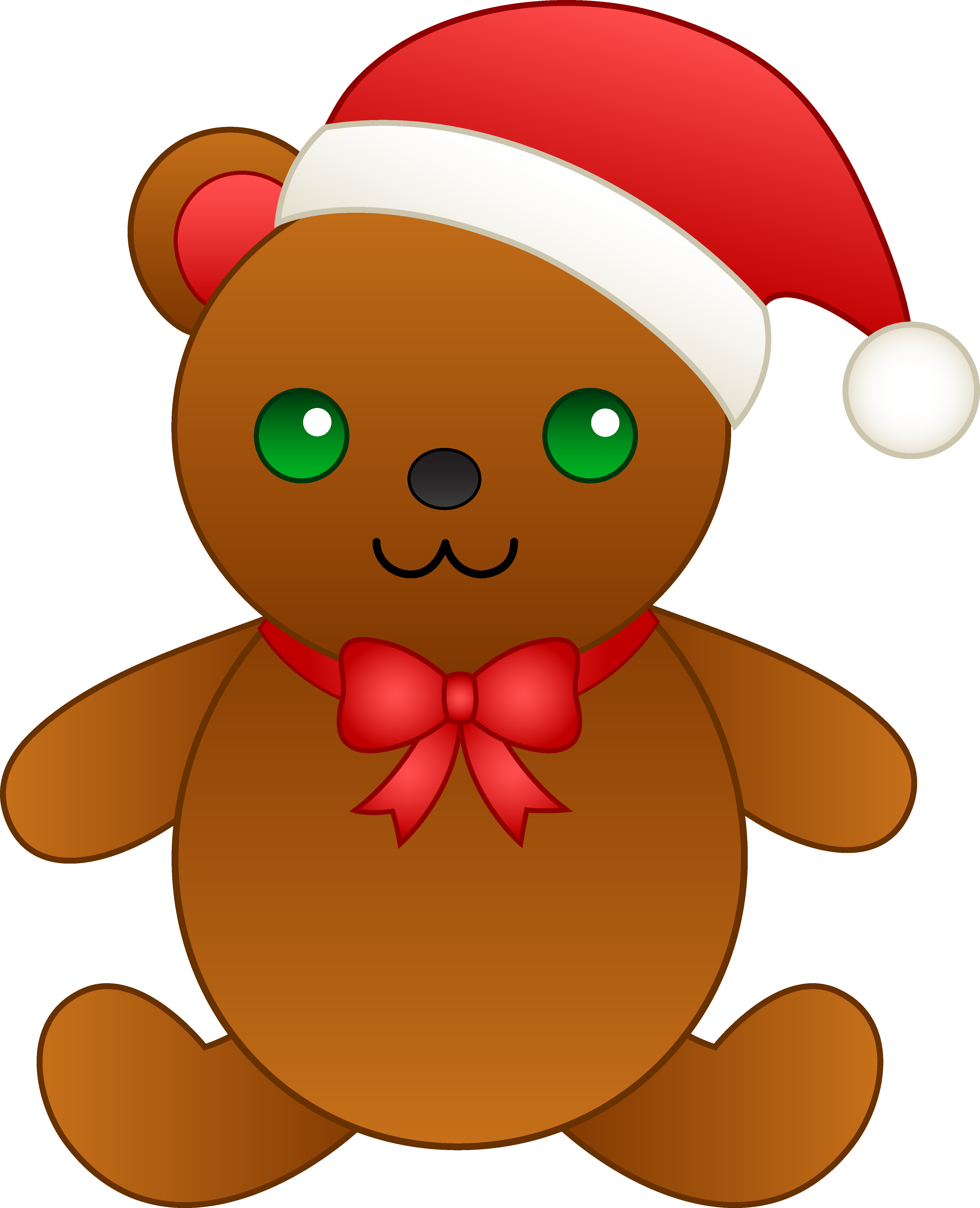 Exercising clipart simple. Christmas teddy bear with