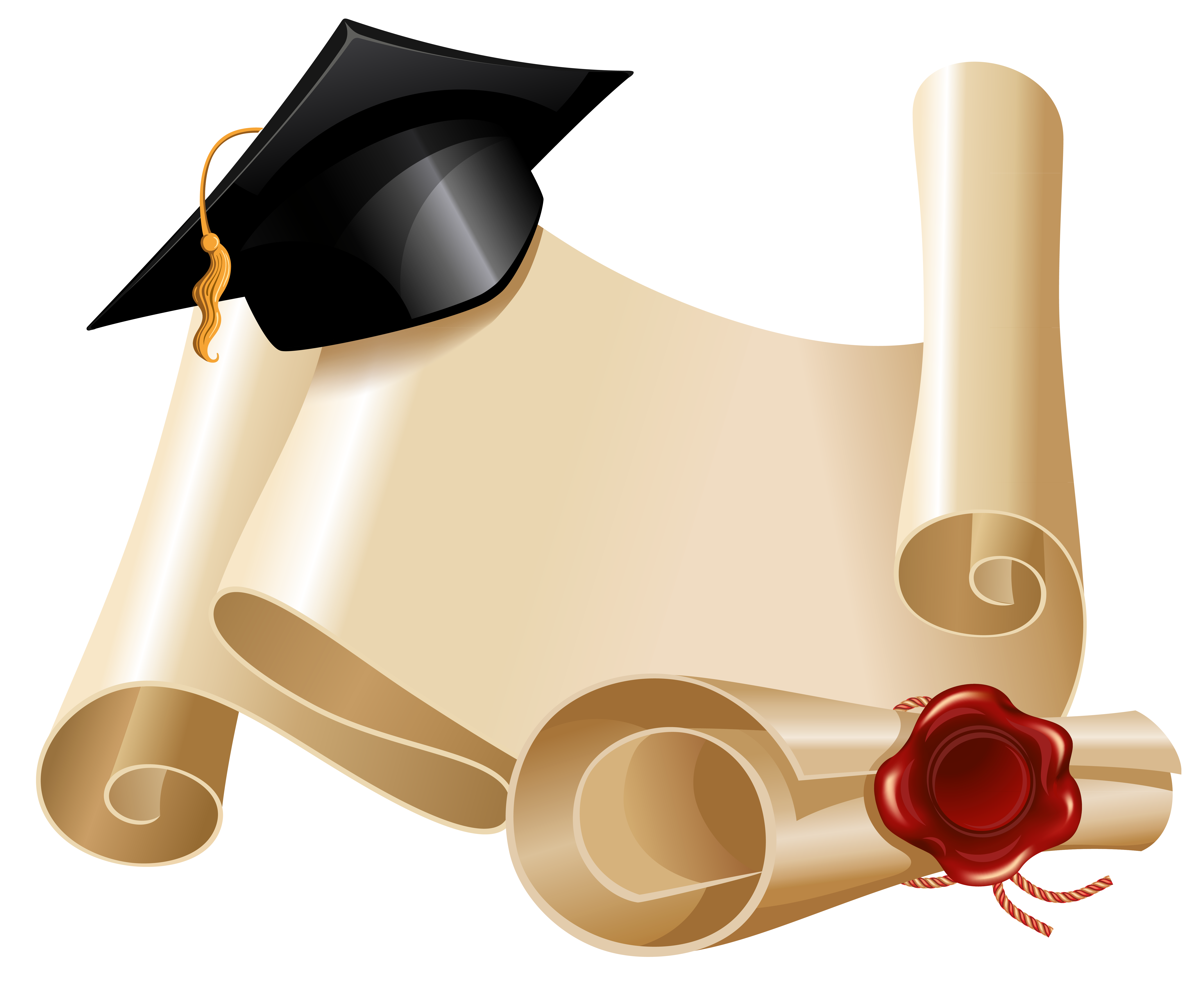 And graduation hat png. Diploma clipart pink