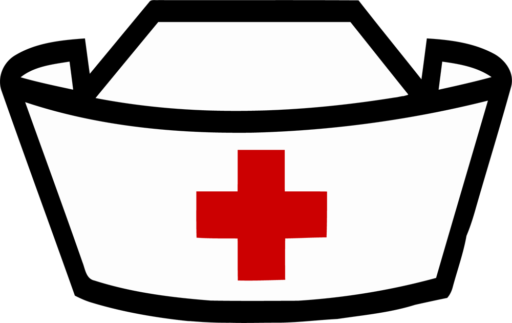 collection of cap. Nurse clipart black and white