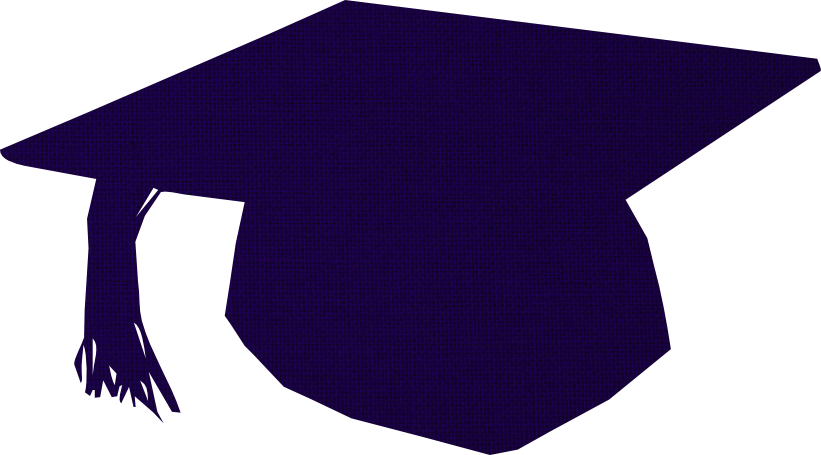 Graduation cap blue by. Hats clipart education