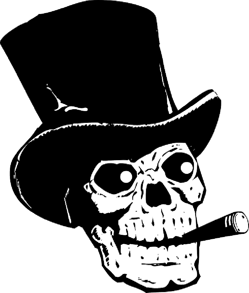 Skull drawing at getdrawings. Hats clipart fire