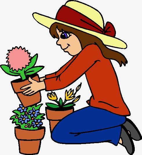 Clip art gardening . Gardener clipart horticulture
