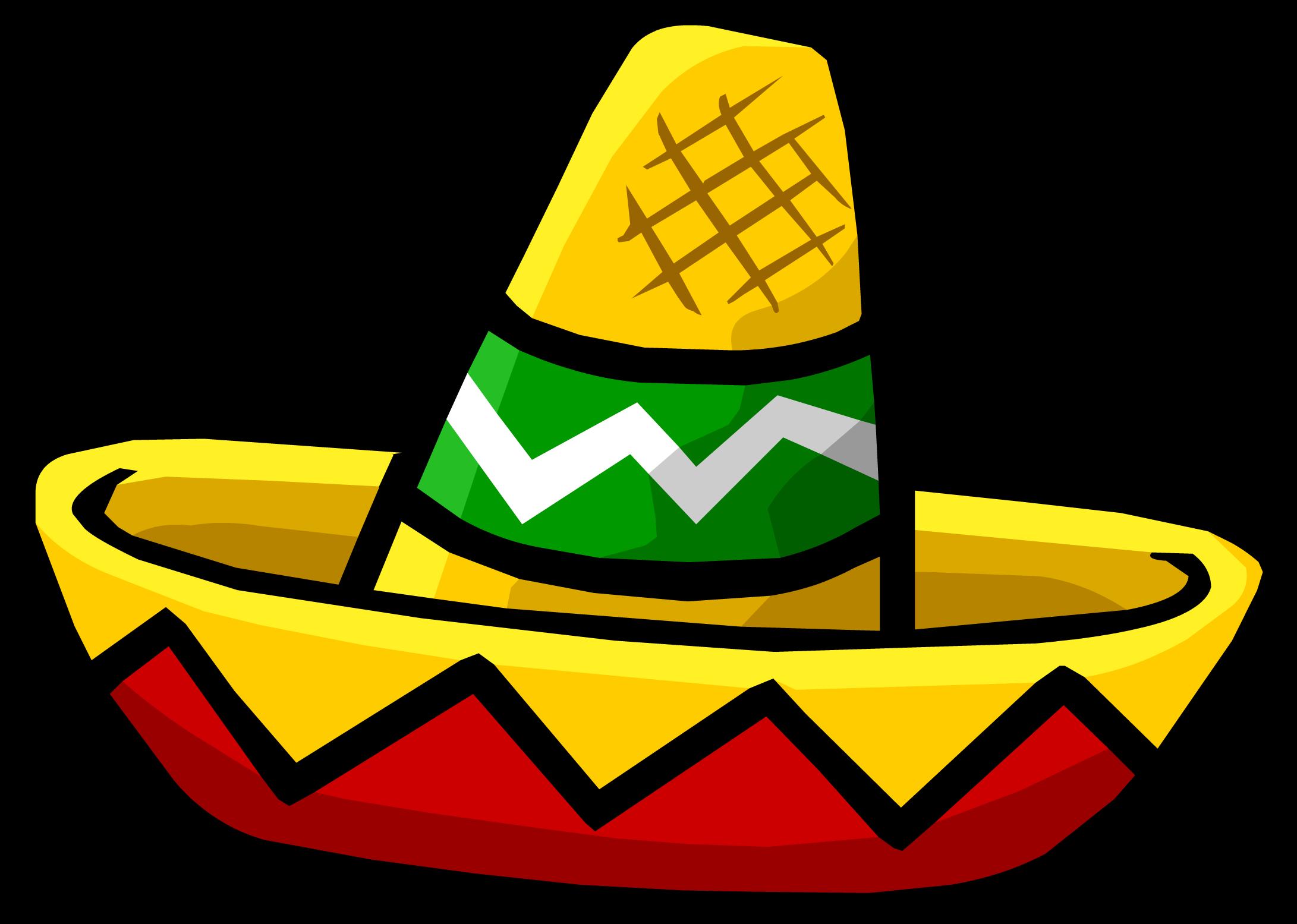 Mini sombrero club penguin. Moustache clipart poncho mexican
