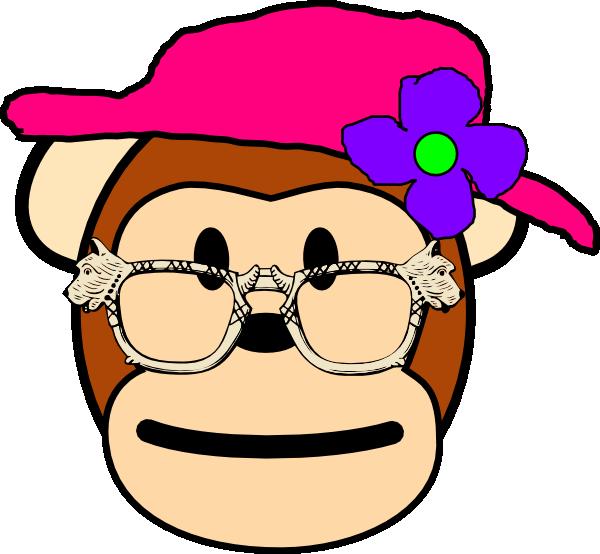 Monkey clip art at. Clipart hat grandma