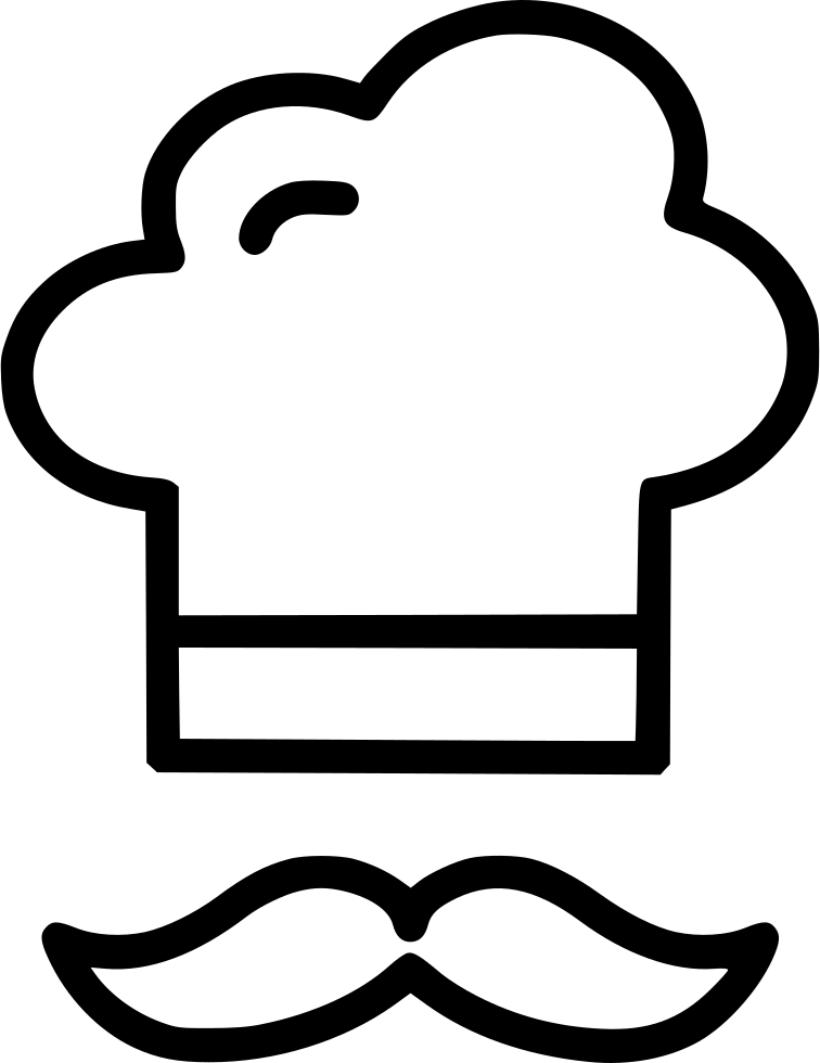 Clipart mustache hand drawn. Chef hat drawing at