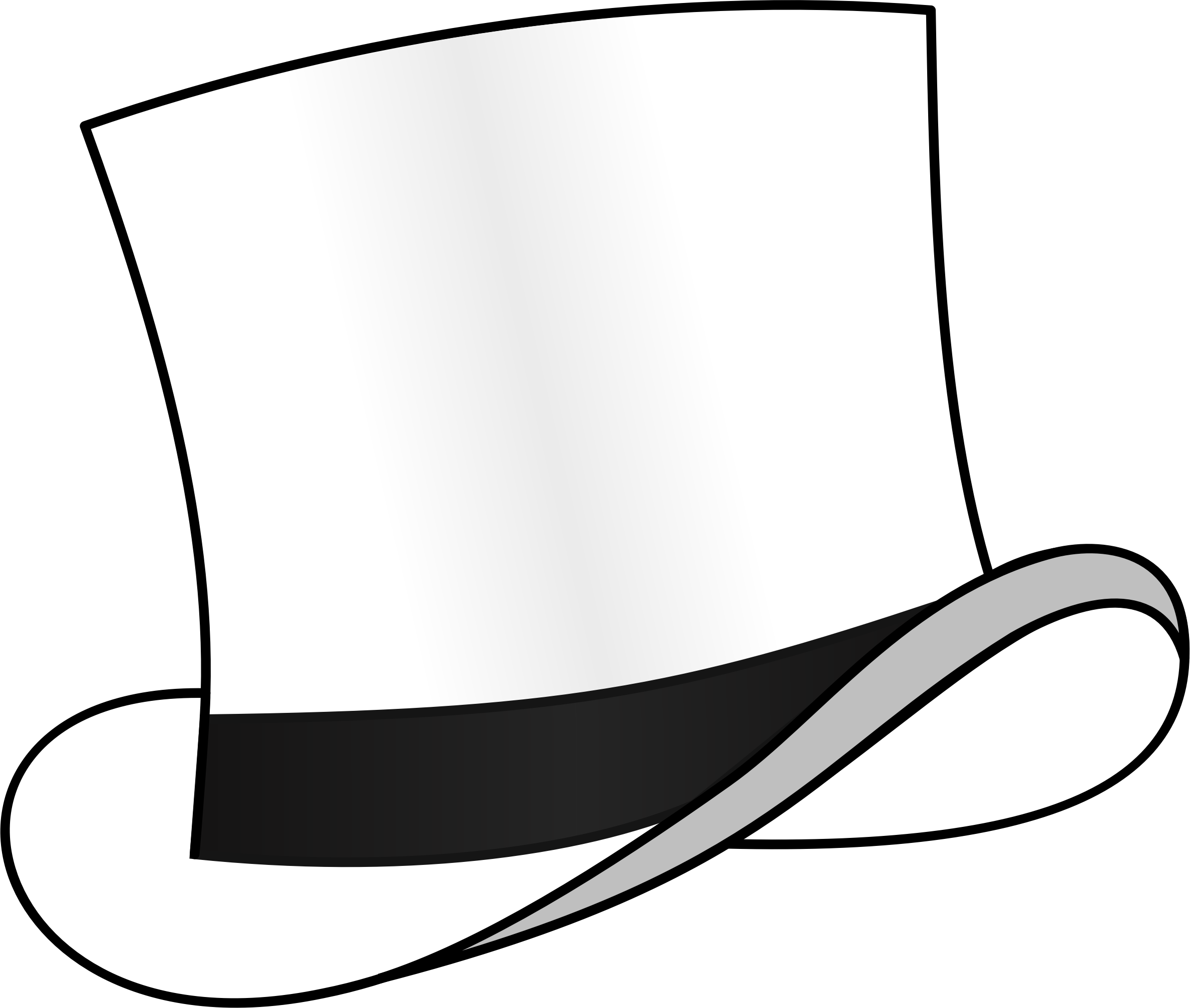 Top hats drawing at. Steampunk clipart mad hatter hat