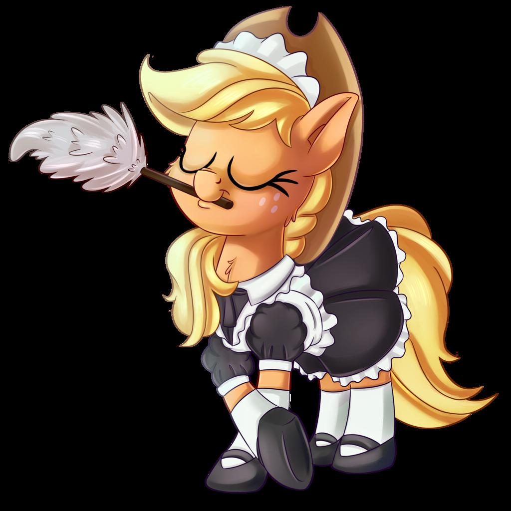 Maid clipart hat.  absurd res applejack