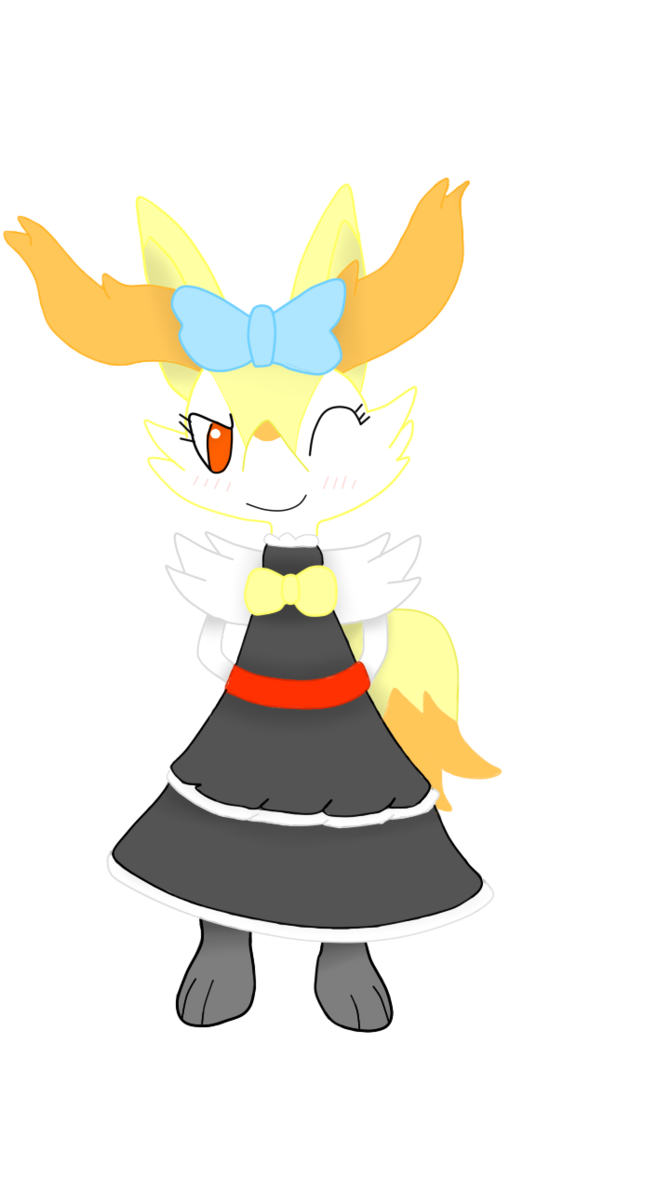 Amette the braixen by. Maid clipart hat
