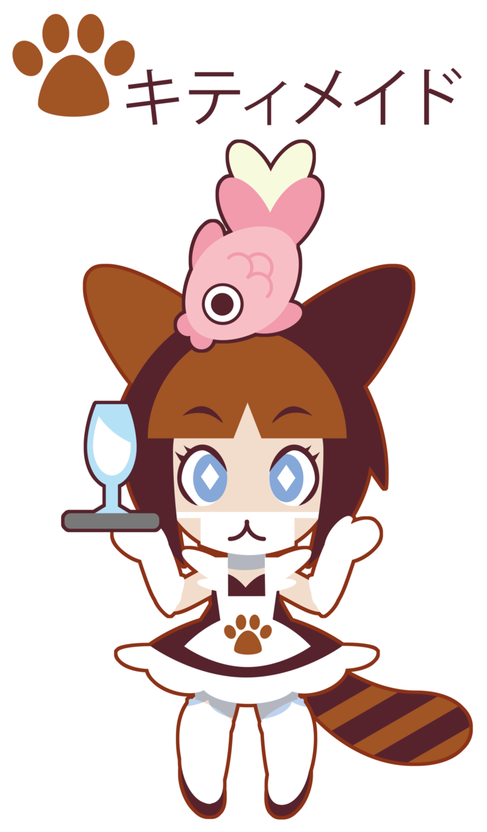 Kitty tifani gift by. Maid clipart hat