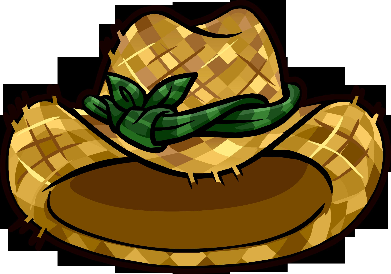 Cowboy clipart sheriff hat. Straw gardening club penguin