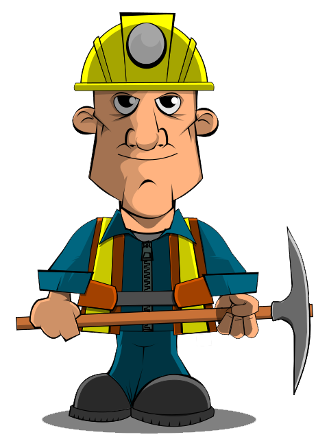 Slavery clipart poor worker. Miner panda free images