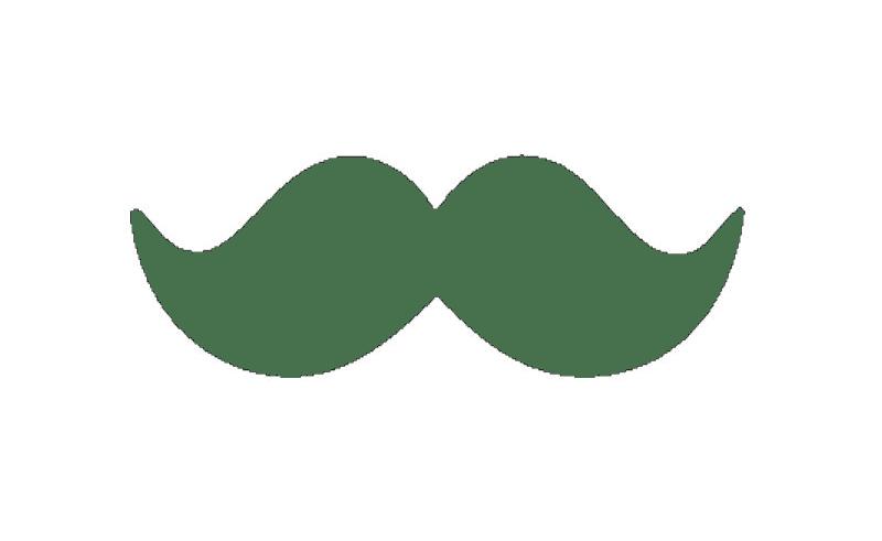 Moustache clipart outline. Mustache clip art transparent