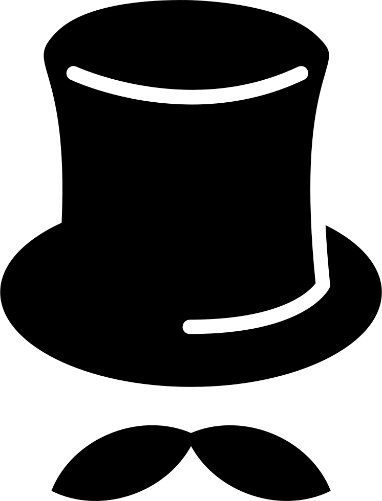 Tall Hat With Mustache Svg Png Icon Free Download