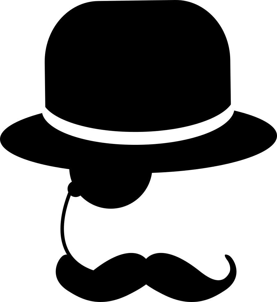 Mustache man's hat