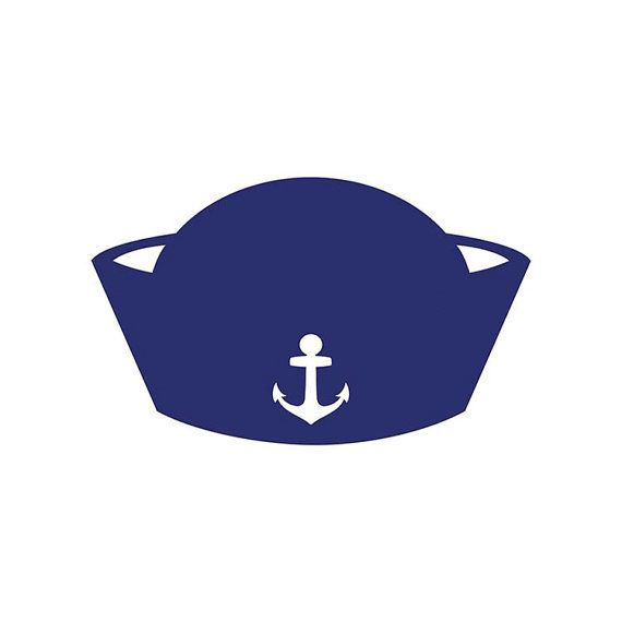 Nautical clipart cap. Die cut sailor hat