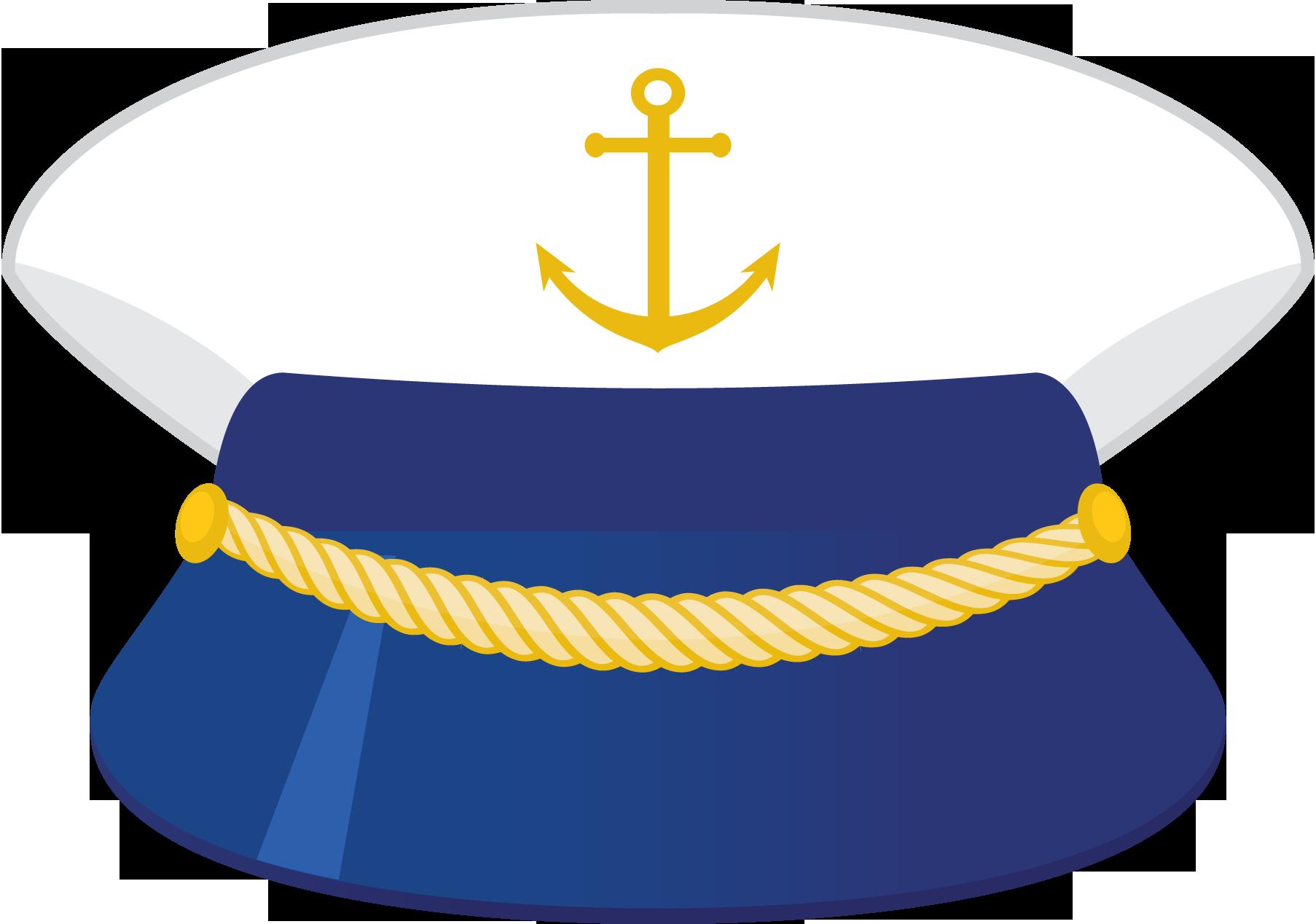 Captains n mo k. Nautical clipart hat