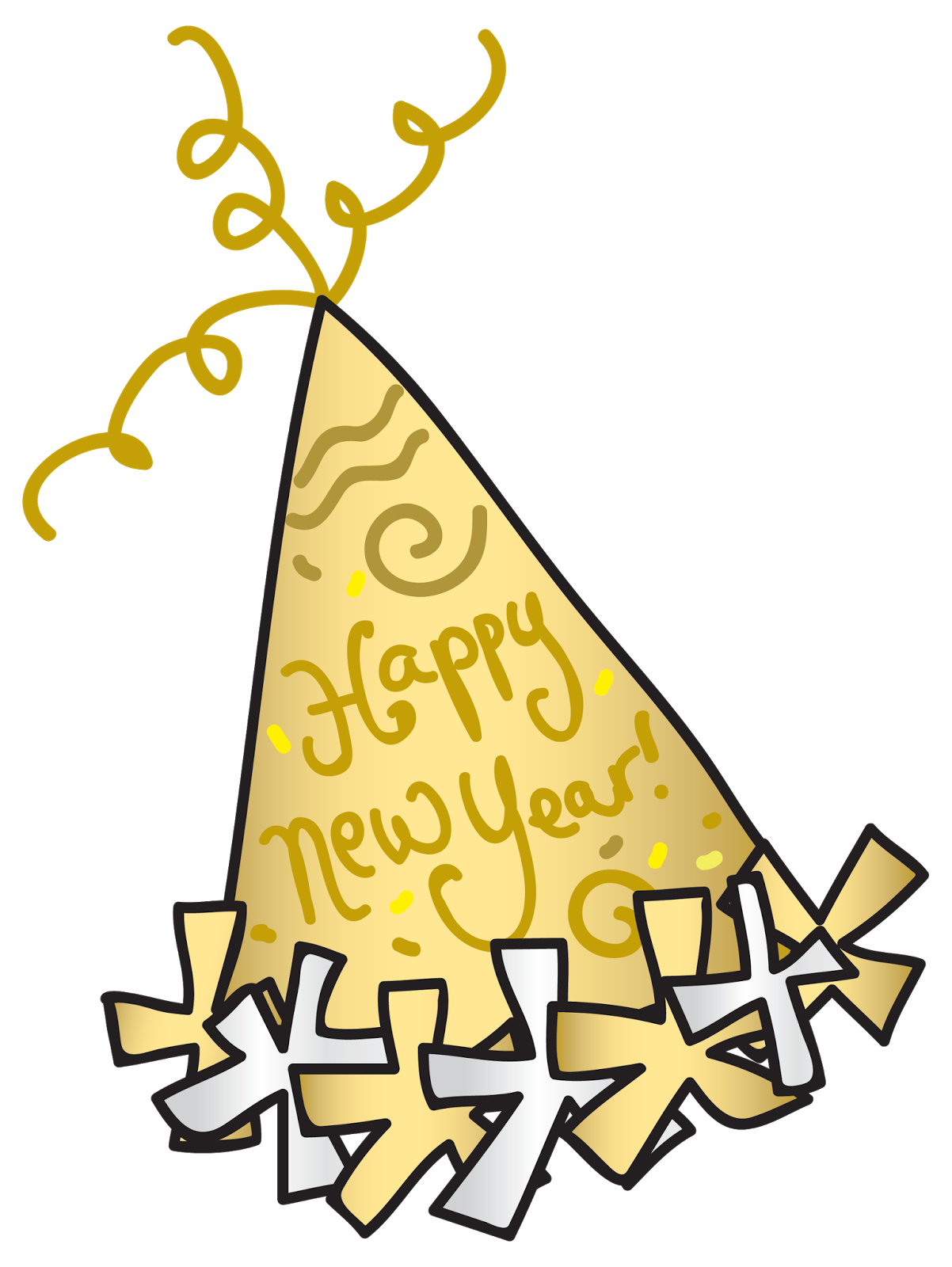Wonderdigi sandra jones illustration. Clipart hat new year's