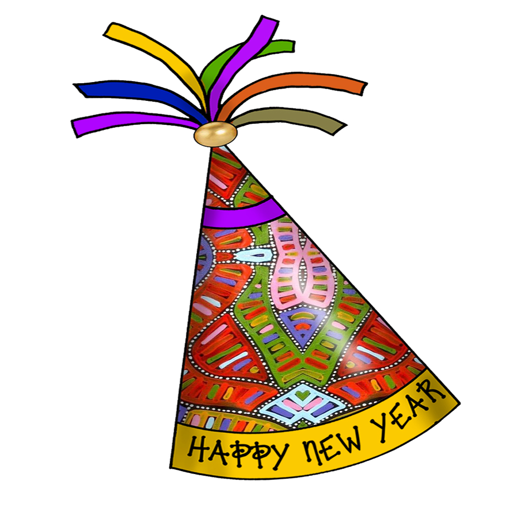 Free year party images. Hats clipart new year's