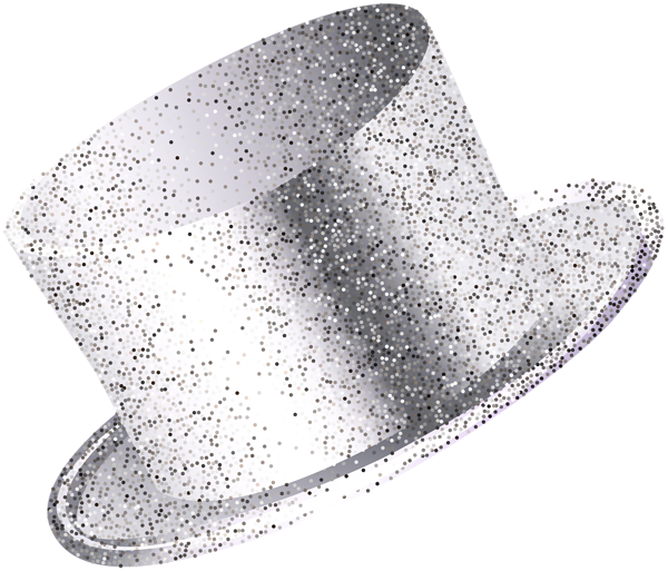 Clipart hat new year's. Year party silver png