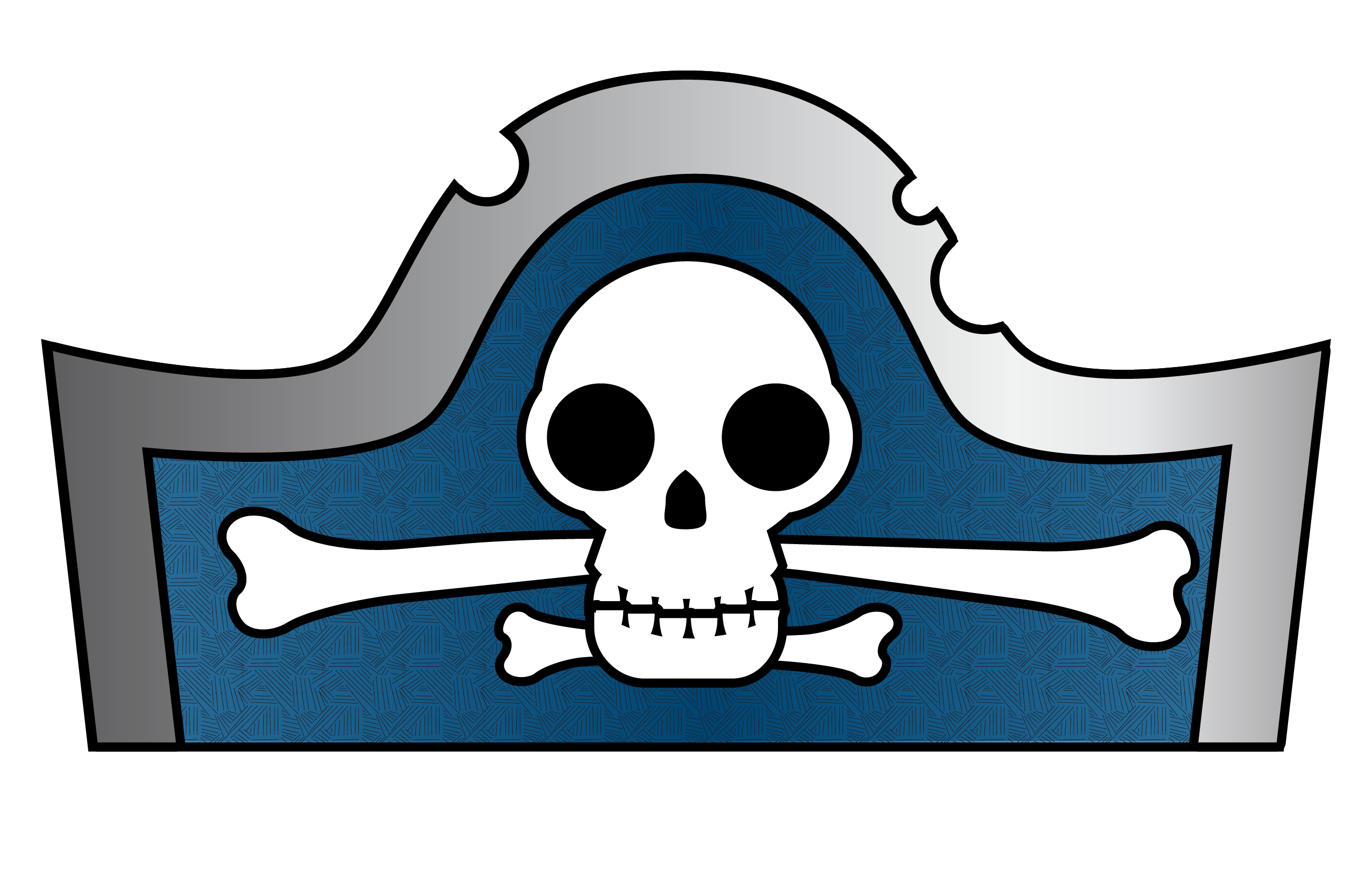 Newspaper clipart vernacular. Pirate hat template for