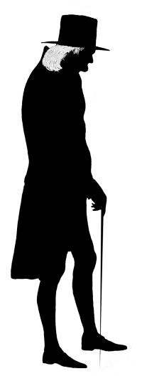 Whip clipart person. Victorian silhouette man old