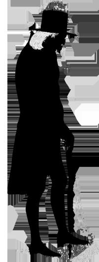 Men clipart tennis. Victorian silhouette man old
