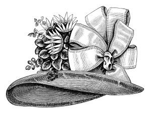 Hat clipart old fashioned. Victorian ladies fashion