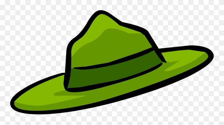 Park cartoon . Fedora clipart ranger hat