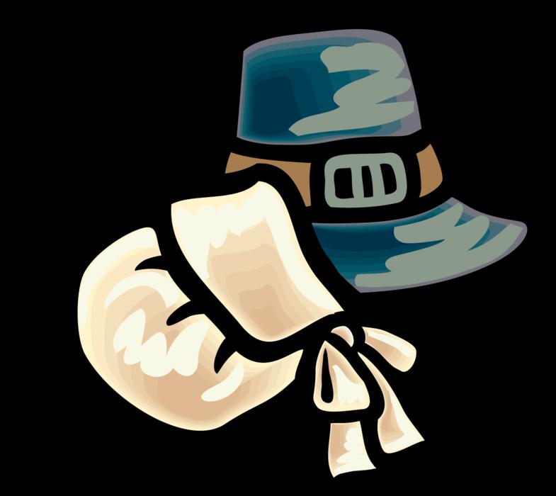 Pilgrims clipart pioneer. Pilgrim hats vector image