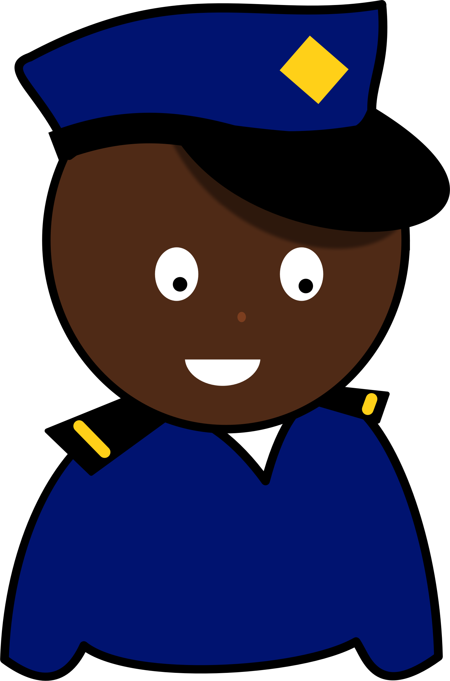 Hats clipart police man. African policeman big image
