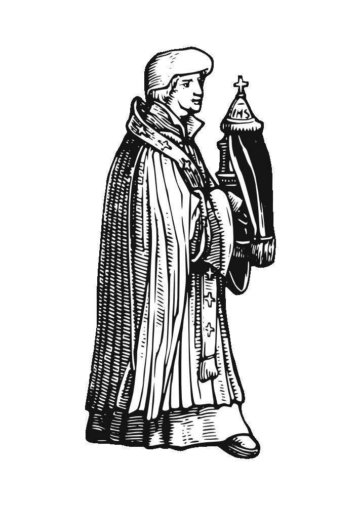 Clipart wedding priest. Onlinelabels clip art medieval