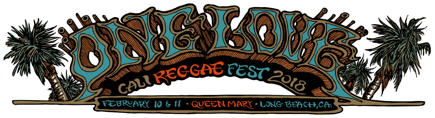 One love cali festival. Hats clipart reggae
