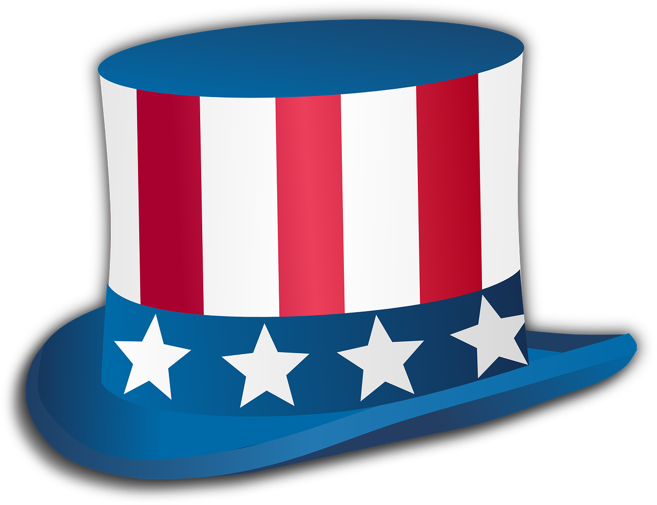 Political parties and symbols. Hat clipart revolutionary war