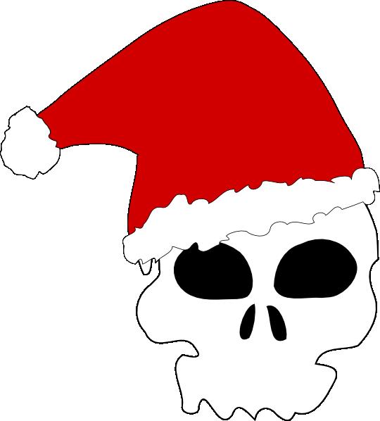 Clipart hat santas. Santa skull clip art