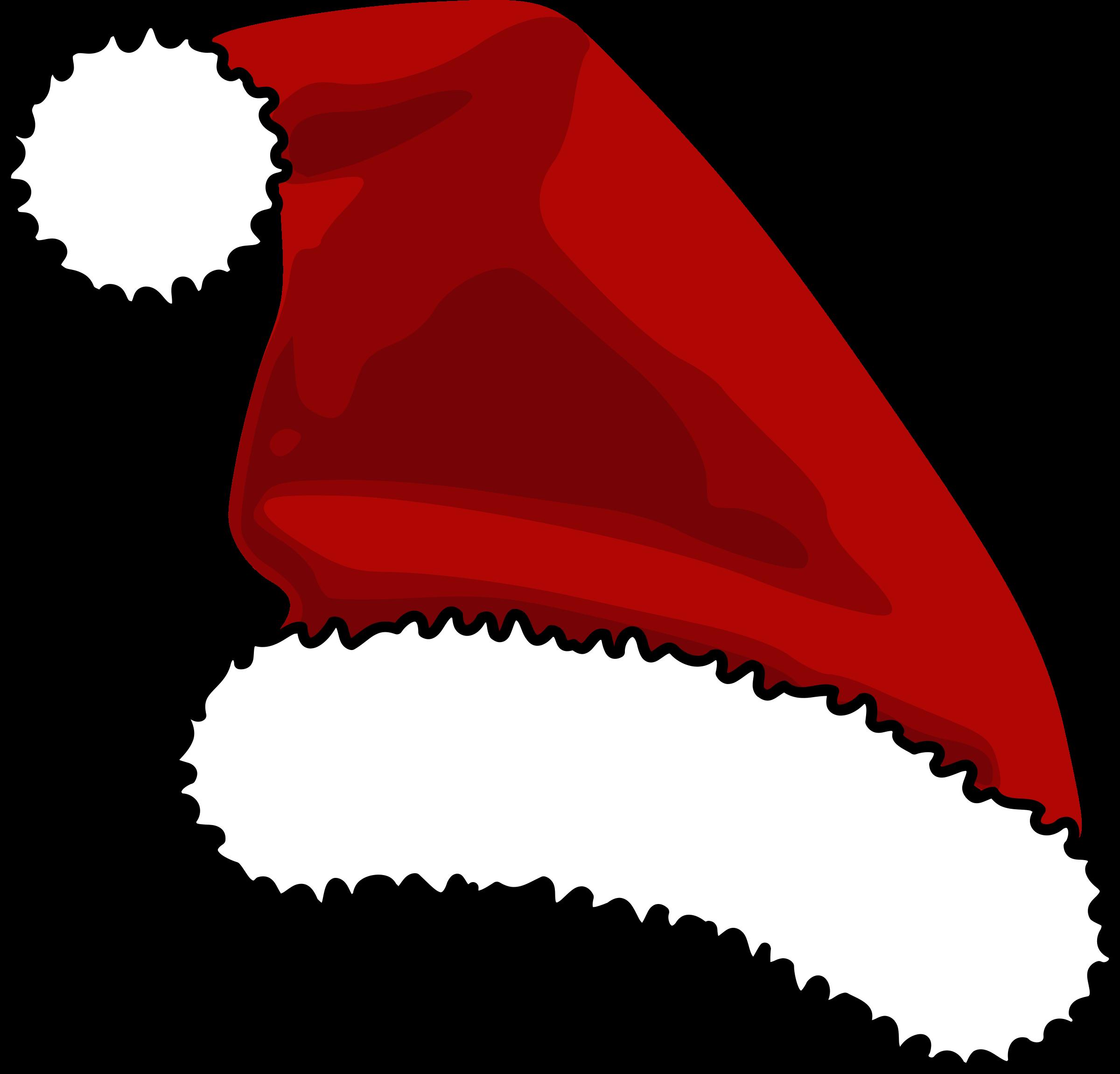 Hats clipart santas. Cap big image png