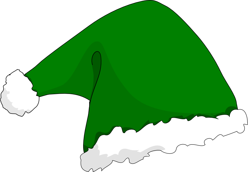 Clipart hat santas.  collection of green