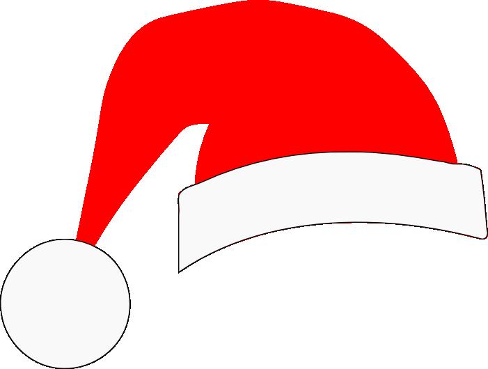 Santa svg crafts silhouette. Clipart hat santas