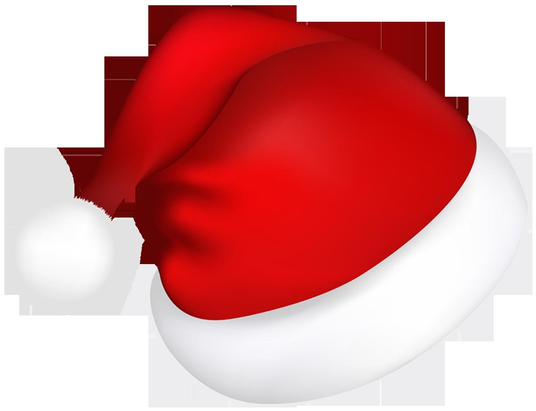 Large red santa hat. Hats clipart santas