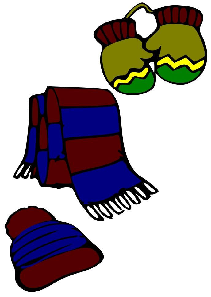 Clip art hats scarves. Mittens clipart hat