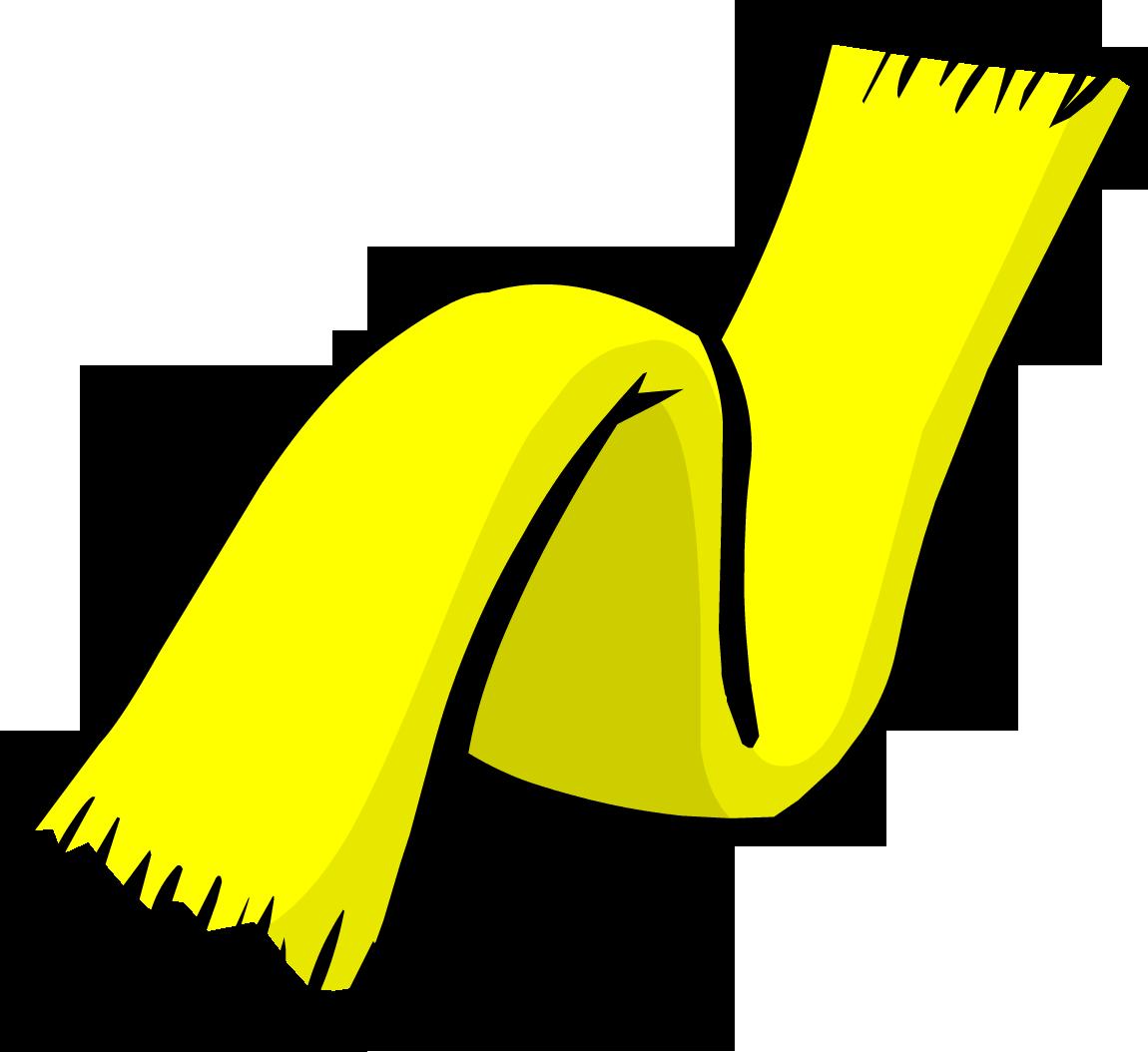 Clipart hat scarf. Yellow club penguin rewritten