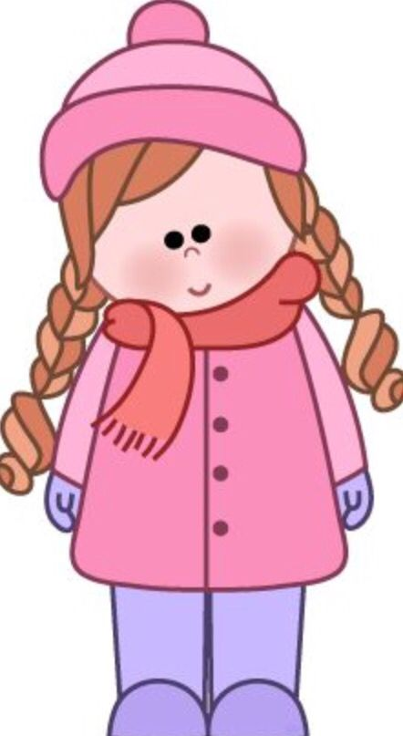 Wrap up warm preschooler. Mittens clipart dress