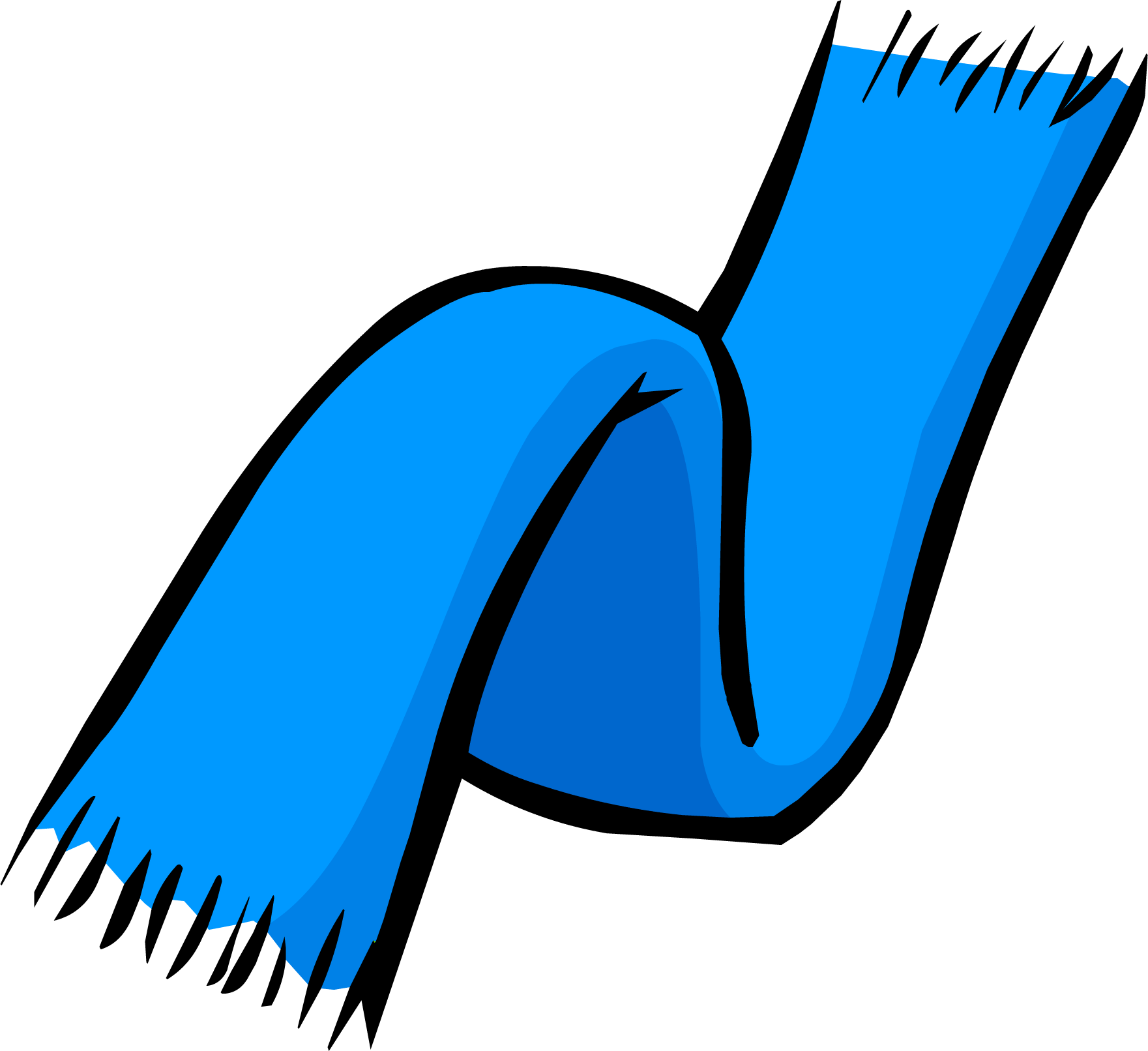 Blue club penguin wiki. Clipart hat scarf