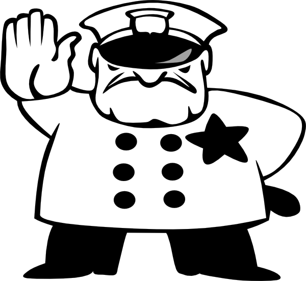 Noodles clipart black and white. Police officer panda free