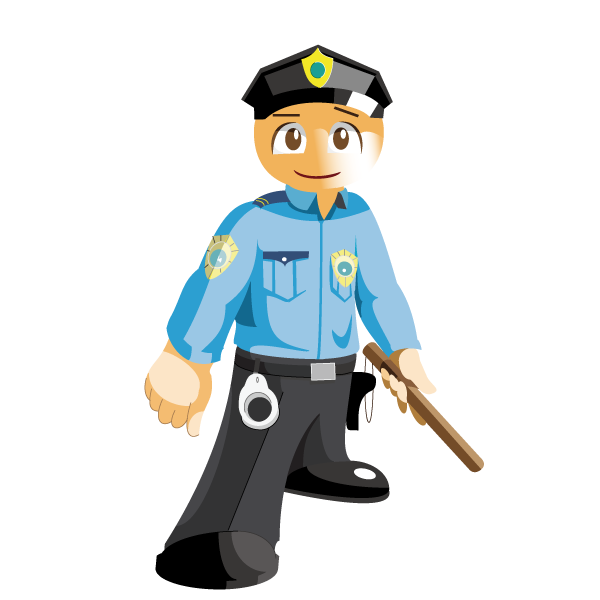 Soldiers clipart officer. Police cartoon security guard