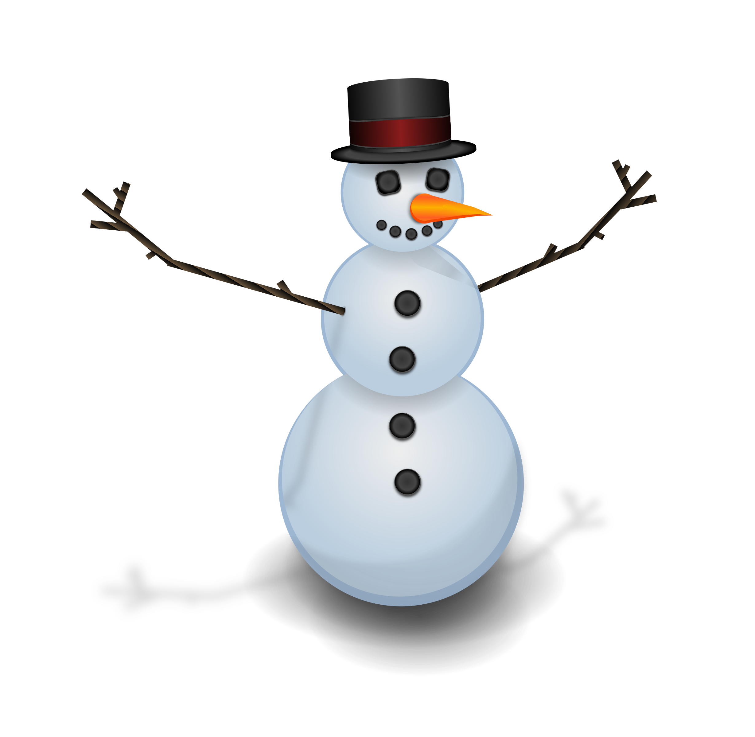 Man with big image. Hat clipart snow