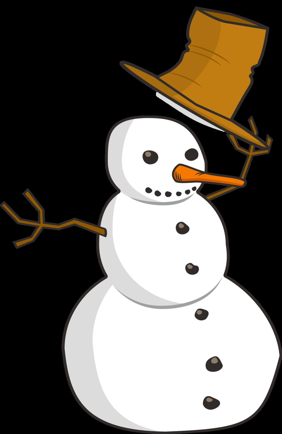 Public domain clip art. Hat clipart snow
