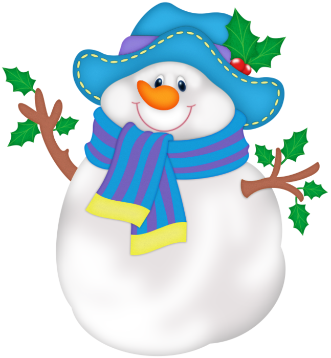 Png with blue hat. Gloves clipart snowman