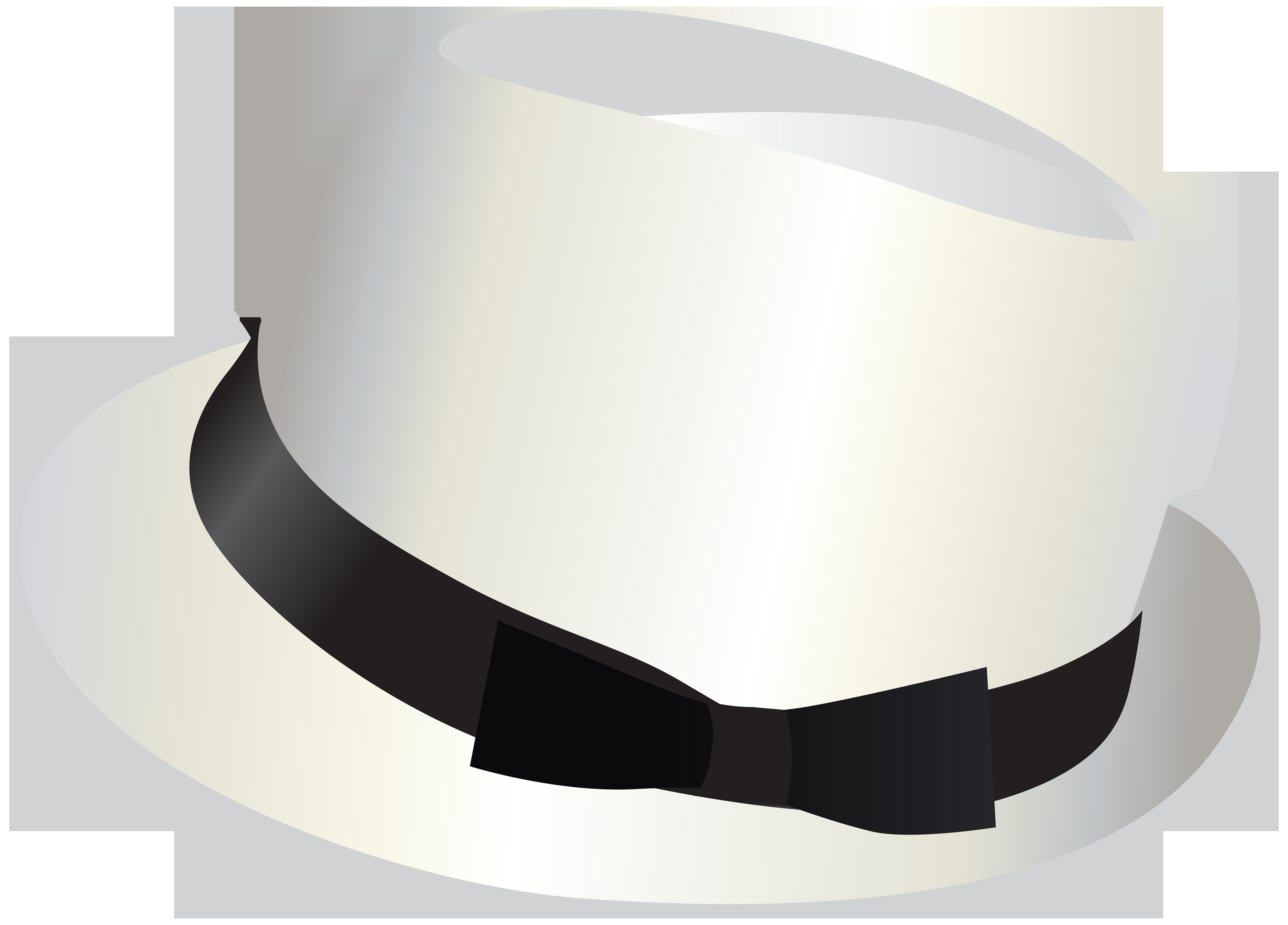 Fedora clipart clip art. White hat transparent png