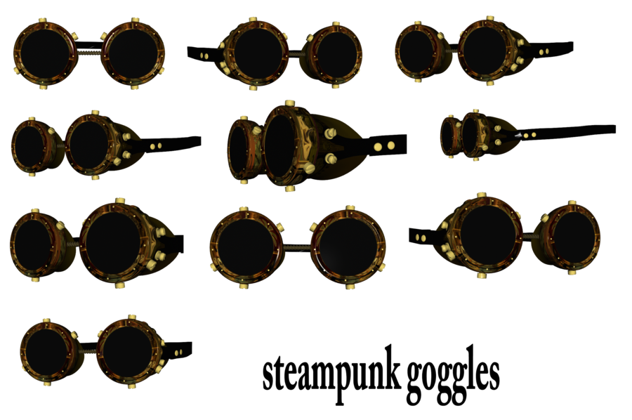 Goggles png by mysticmorning. Steampunk clipart flight wing